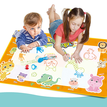 Water Drawing Board Mat Painting with Water Doodle Pen Non-toxic Coloring Drawing aqua paint magic water doodle mat for Kids