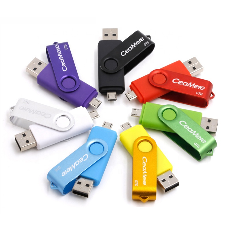 Ceamere Cmc5 Otg Usb Flash Drive 128gb 64gb 32gb 16gb 8gb 4gb Metal Swivel  Pen Drive Smartphone Pendrive Otg 2.0 Usb Flash Drive - Buy  Pendrive,Pendrive 32gb,Otg Usb Flash Drives Product on