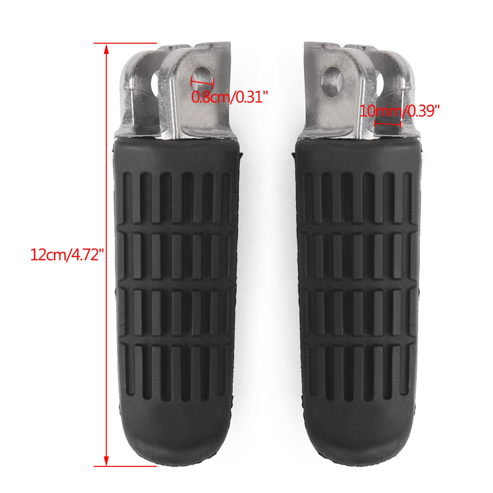 Topteng Footrest Repose Pieds Front pour Hon-da VT250 MC20 CB 400 500 600F 750F 1000F CBR