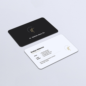 Wholesale high quality customized matte black and white business paper cards