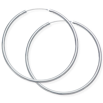 Factory Direct Korean Custom Size Simple Fashion 925 Sterling Silver Round Circle Hoop Earrings Women