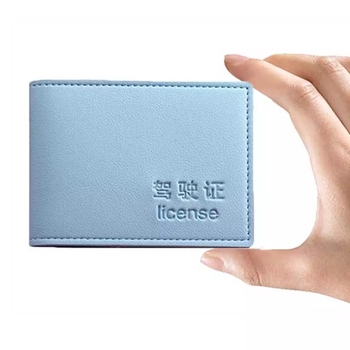 Custom Design Titular De La Licencia PU Leather Driver Slim License Wallet Portable 6 Cards Driving License Credit Card Holder