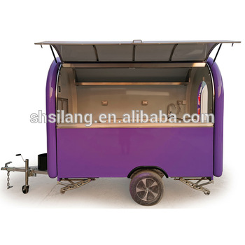 Europe most fashionable food trailer fast food truck with COC/CE shanghai silang FOOD CART