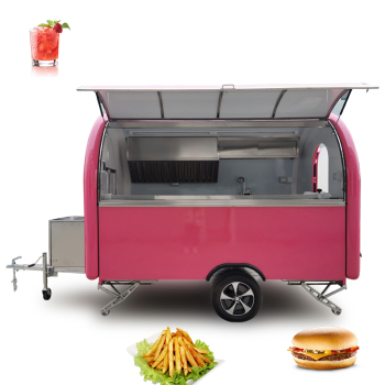 France standard fiberglass ice cream cart for food business, street snow cone truck, cold dessert truck