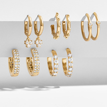 Barlaycs 2020 Hot Sale 14K Gold Plated Brass Zircon Huggie Hoop <strong>Earrings</strong> for Women Jewelry - Environmental Protection Material