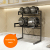 High Quality Carbon Steel Kitchen Storage Holder Metal Flexible Standing Type Microwave Oven Shelf Rack
