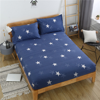 Nordic simple life style design wholesale price reactive printing floral 100% polyester aloe cotton bed linen fitted bed sheet