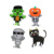 Halloween  Outdoor Lawn Decorations Plastic Cat monster pumpkin yard sign