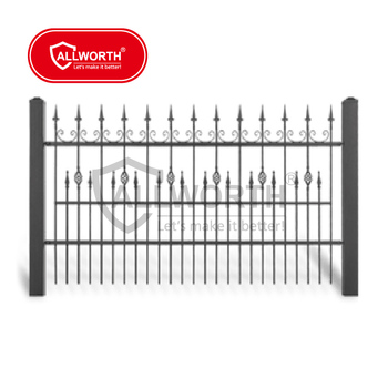High Quality Public Housing Authorities Bow Top Welded Steel Fence