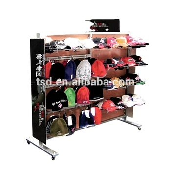 custom made metal wire boutique furniture shop displays design rack for hat cap