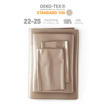 OEKO-Tex 100 silk bedding set 22 MM Silk Duvet Cover Comfortable Silk Fitted Sheet