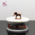 Hotel Home Decor Kitchen Gift Storage Container Glass Jar With Resin Delicate Animal Statue Lid