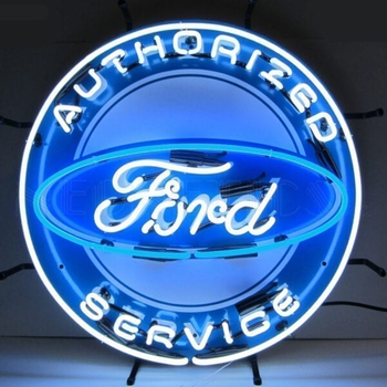 Ford authorized neon light glass neon light sign wall neon clock lead free rohs certificate oem factory china suppliers