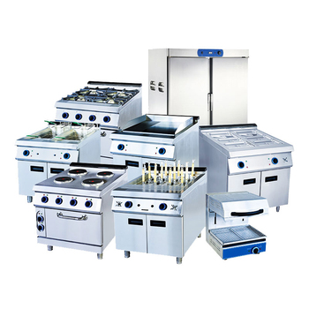 Hot Sale Chinese Stainless Steel Full set Industrial Fast Food Restaurant Hotel Commercial Kitchen Equipment