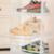 Transparent Storage Black Large Drop Front Shoe Box Stackable Plastic Shoebox