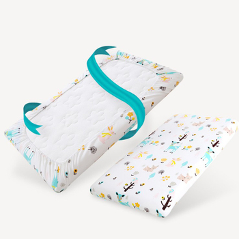 Wholesale Waterproof Crib size baby Use 100% Organic cotton Fitted Bed Sheets with TPU Fabric Customized size