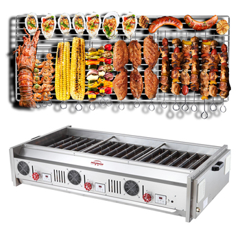 Barbecue Gas Grill Yakitori And Skewers Commercial For Restaurant Indoor Kitchen or Outdoor Use