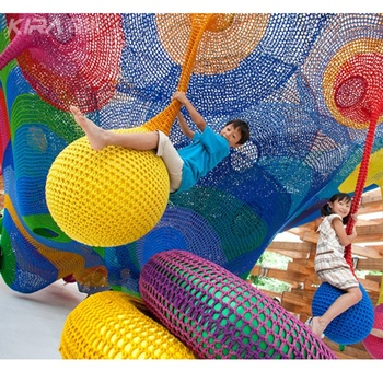 Kids Indoor Playground Climbing Hand Knitted crochet playground set