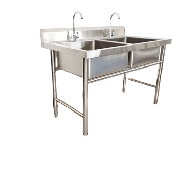 for kitchen use stainless steel double bowl sink commercial kitchen equipment