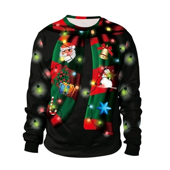 Cheap In-Stock 3D Print Christmas Hoodies Sweatshirts Unisex Pullover