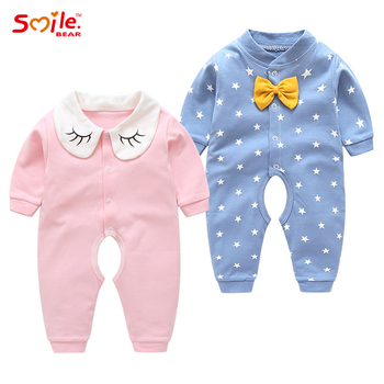 2021 new fashion baby one-piece cotton thin baby clothes new born baby girl clothes