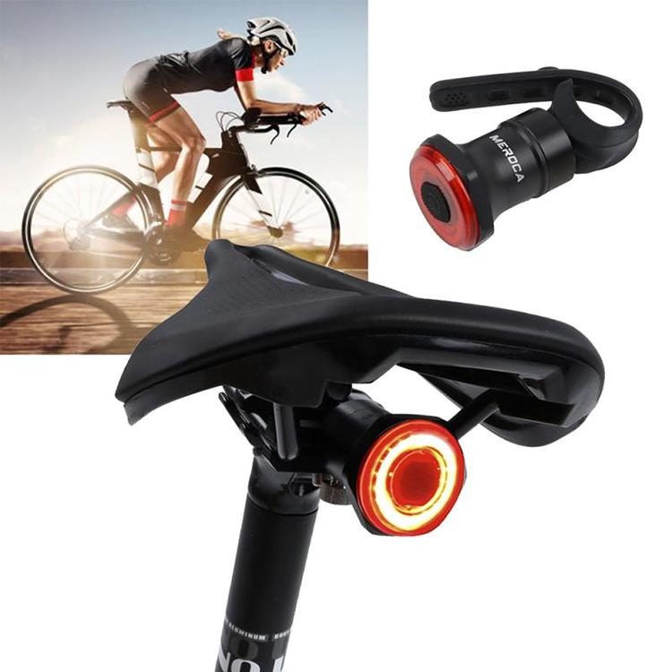COB LED Bicycle Rear Light Auto Start Stop Brake Sensing Tail LED Taillight Bike