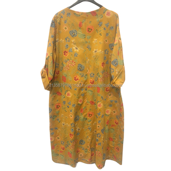 2020 New Arrival Dress Flower Print Plus Size Clothing Elegant Casual Dresses For Women