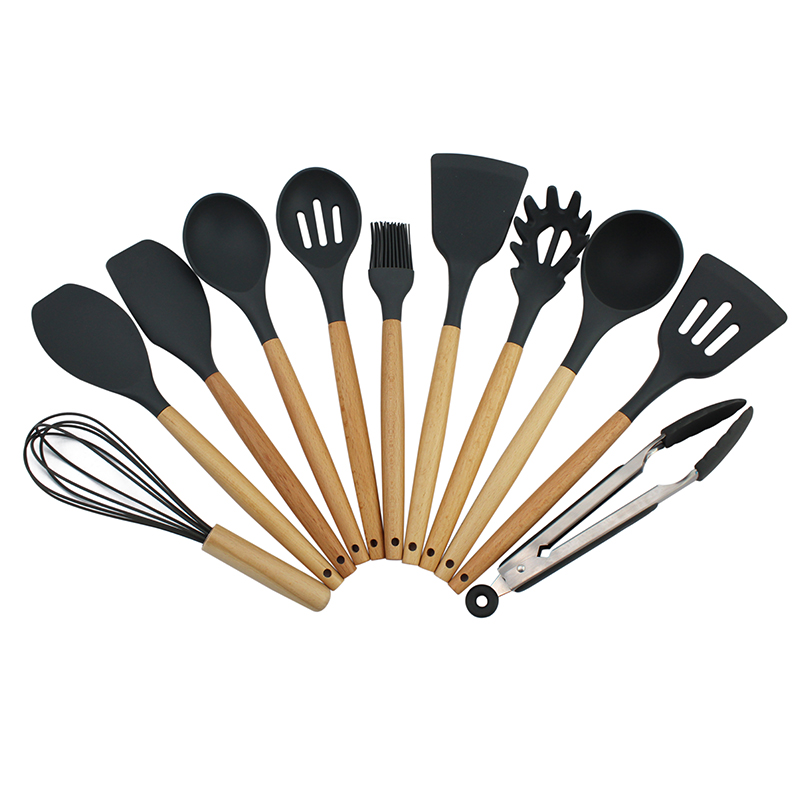 Wholesale non stick silicone kitchen accessories cooking utensil Silicone kitchen utensils set