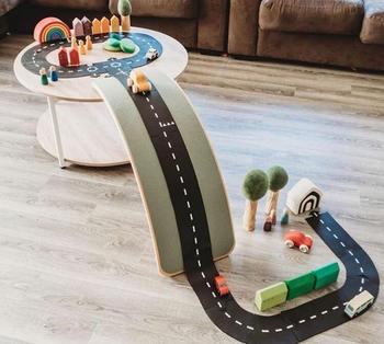 China toy train set DIY Plastic Racing Track slot toys kids toy car track pvc track play wooden christmas train set baby nursery