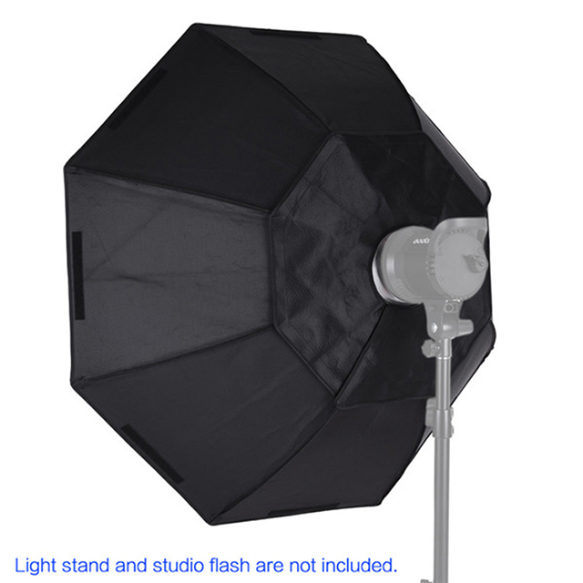 Portable Photography Speedlite 120CM Umbrella Octagon Bowens Mount Softbox for Studio Strobe Flash light