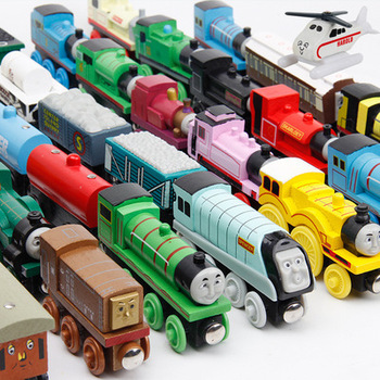 baby Educational Kids wooden thomas train toys wooden magnetic mini thomas wooden train set toy