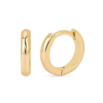 Minimalist Jewelry Wholesale 18K Gold Vermeil Huggies 925 Sterling Silver Bold Hoop Earrings For Women