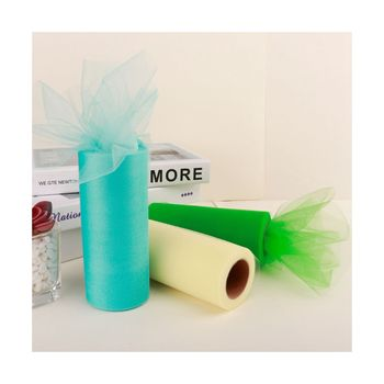 100 Polyester Colorful Tulle Fabric Roll Tricot Tulle Roll For Wedding Dress Table Skirt
