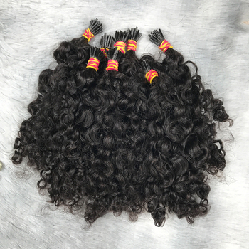 1 gram i tip remy hair micro link i tip kinky curly human hair extensions