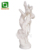 Hand Carved White Marble Double Lady Statue
