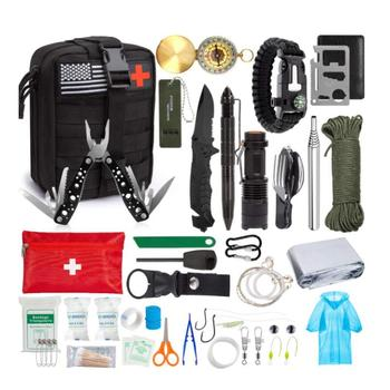 SOS Emergency Emergency Survival Kit, Professional Survival Gear Tool with First Aid Kit ,Survival Gear Kit with Molle Pouch