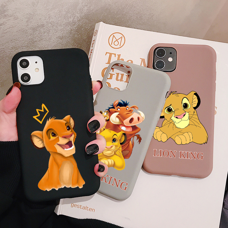 Cartoon Lion King Phone Case For Iphone 11 Pro Xr X Xs Max 8 7 6 Plus 6s 5s Se Frosted Silicone Cases Soft Back Cover - Buy For Iphone 11 Case For ...