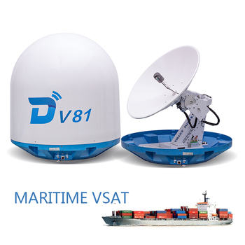 Ditel V81 vsat ku band 83cm internet Ku band 3-axis stabilized dish network internet prices satellite marine VSAT antenna sea