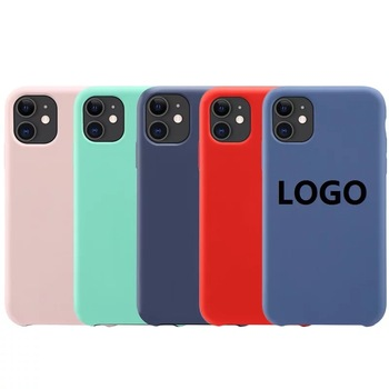 Best Buy For Apple iPhone SE 2 6 7 8 X XR XS Max Liquid Silicone Cell Phone Case Logo,For iPhone 11 12 Silicone Phone Cases