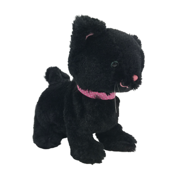 electric black cat stuffed toy plush animal toy