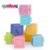 Squeeze stacking bath toys education match rubber soft baby building blocks