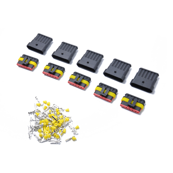 10 Kits 6 Pins Way Sealed Waterproof Electrical Wire Connector Plug Terminal Wholesale Price at Bajutu Car Auto