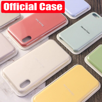 Luxury Original Silicone Phone Case For 7 8 Plus For Cover For iphone 6 6S Plus X XS MAX XR 7 8 11 12 No Logo Cases Capa