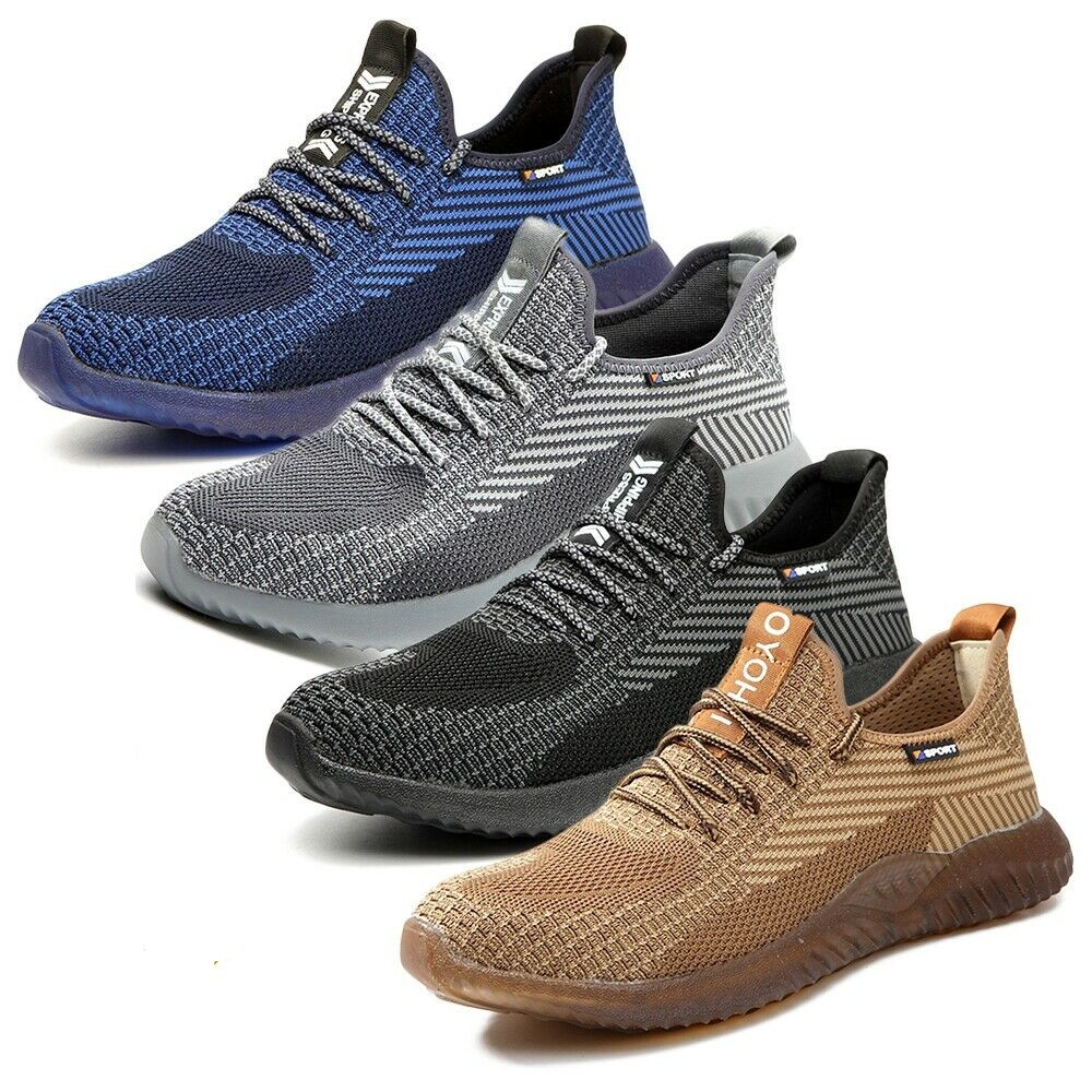 Men/'s Work Safety Shoes Steel Toe TPR Boots Indestructible Lightweight Sneakers