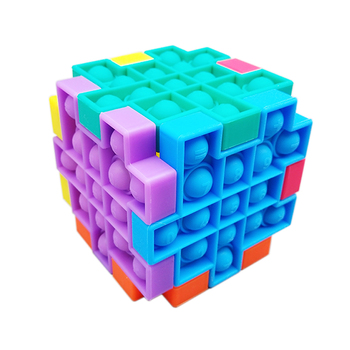 Amazon New products Educational Relief Anxiety Stress finger toy pop it fidget toy square rainbow among us sensory toy