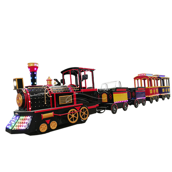 colorful electric trackless train, tourist trackless train for sale