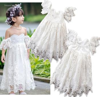 Wedding Frock Design One Piece 2-7 Years Girls Birthday Party Dresses Girls Lace Formal Dress