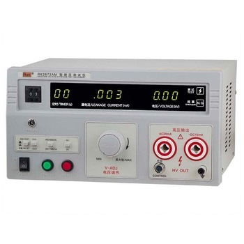 RK2672AM High Accuracy Voltage Tester HV Test Factory Products Hipot Tester Pressure-Resistant Tester for AC/DC 5KV