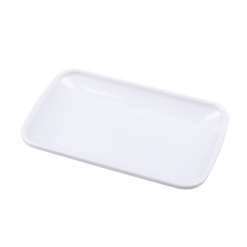 FPJJ80095 Restaurant Dinnerware Dish A5 High Grade Melamine White Dinner Plate Rectangle