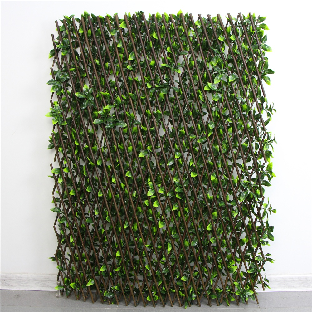 Artificial Ivy Screen Privacy Leaf Fence With Willow Trellis For ...